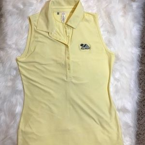UNDER ARMOUR WOMEN FIT SLIM YELLOW GOLF/GYM TOP